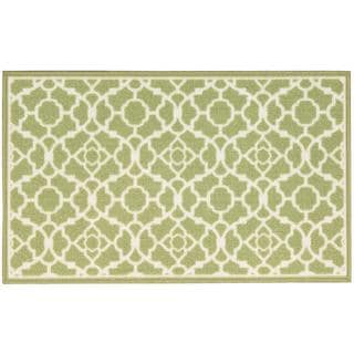 Waverly Fancy Free and Easy Lovely Lattice Celery Area Rug by Nourison (2'6 x 4')