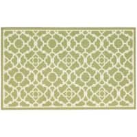 Waverly Fancy Free and Easy Lovely Lattice Celery Area Rug by Nourison - 2'6 x 4'