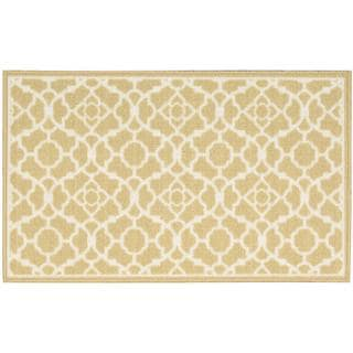 Waverly Fancy Free and Easy Lovely Lattice Gold Area Rug by Nourison (2'6 x 4')