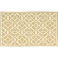 "Waverly Fancy Free and Easy Lovely Lattice Gold Area Rug by Nourison (2'6 x 4') - 2'6"" x 4'"
