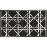 Waverly Fancy Free and Easy Garden Lattice Charcoal Area Rug by Nourison (1'10 x 4'6)