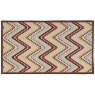 Waverly Fancy Free and Easy Sand Art Multicolor Area Rug by Nourison (1'10 x 4'6)