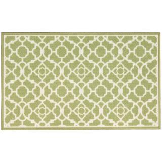 Waverly Fancy Free and Easy Lovely Lattice Celery Area Rug by Nourison (1'10 x 4'6)