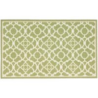 Waverly Fancy Free and Easy Lovely Lattice Celery Area Rug by Nourison - 1'10 x 4'6