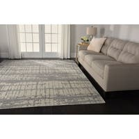 Nourison Twilight Ivory Abstract Rug - 9'9 x 13'9