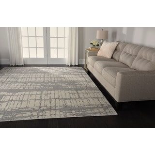 Nourison Twilight Ivory Abstract Rug (7'9 x 9'9)