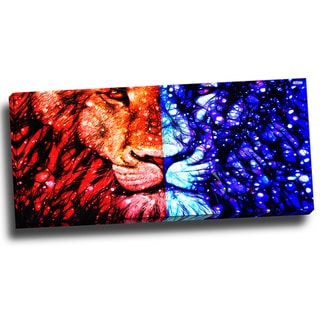 Design Art 'King of the Jungle' 40 x 20 Canvas Art Print