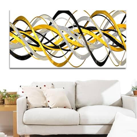 Design Art 'Helix Expression' Abstract 40 x 20 Canvas Art Print