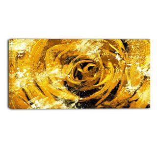 Design Art 'Center of the Rose' 40 x 20 Canvas Art Print