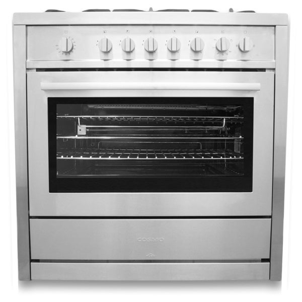 Cosmo COS 965AG 36 Inch Gas Range With 5 Italian Made Burners, Broiler
