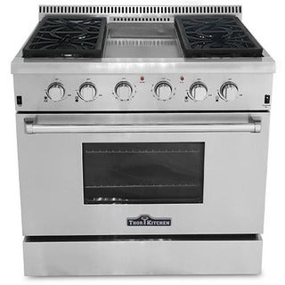 Thor Kitchen Professional 36-inch Stainless Steel Gas Range with Center Griddle