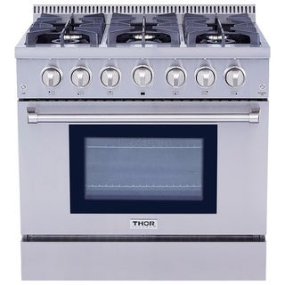 Thor Kitchen HRG3618U 36-inch 6-burner Professional Style Gas Range