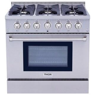 Thor Kitchen HRG3618U 36 Inch 6 Burner Professional Style Gas Range