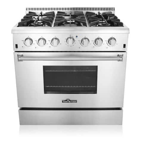 Thor Kitchen HRG3618U 36-inch 6-burner Professional Style Gas Range - Silver