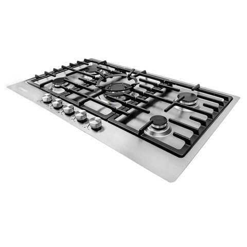 Cosmo VA-S950M 34-inch 5 Italian Burner Stainless Steel Gas Cooktop