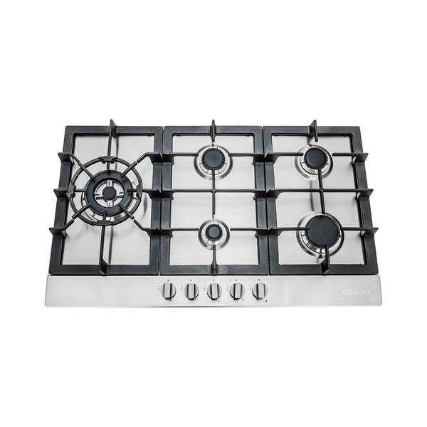 cosmo 30inch stainless steel gas cooktop 850sltxe