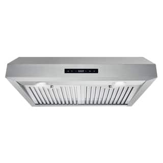 Cosmo 30-inch Range Hood 760 CFM Ducted Under Cabinet Stainless Steel - Silver
