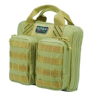 G.P.S. Tactical Double + 2 Pistol Case Tan