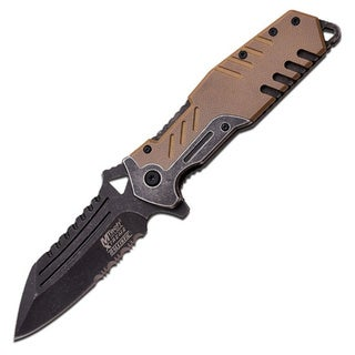 Mtech Xtreme Spring Assisted Knife 3.75-inch Blade Tan Handle