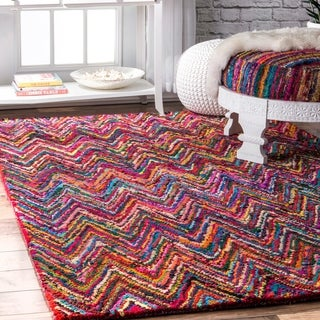 nuLOOM Casual Handmade Modern Cotton Multi Rug (8'6 x 11'6)