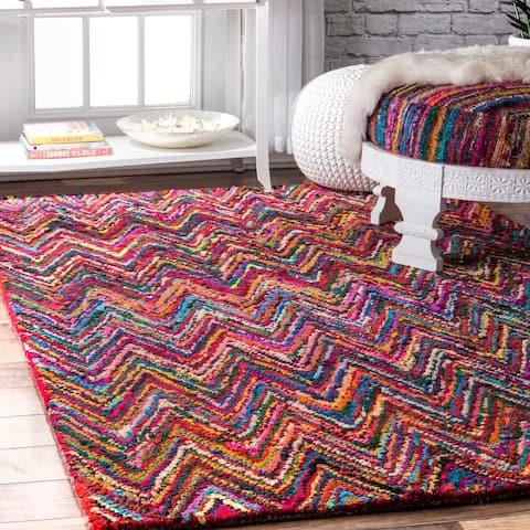 nuLOOM Multi Casual Handmade Boho Cotton Area Rug