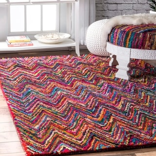 nuLOOM Multi Casual Handmade Modern Cotton Area Rug