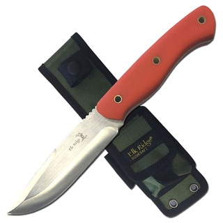 Elk Ridge Fixed Blade Knife 4.75-inch Blade Orange Handle