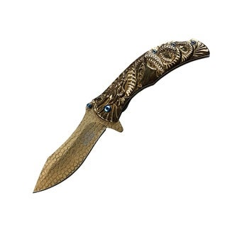 Masters Collection Spring Assist Folder Gold Knife/ Blade