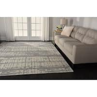Nourison Twilight Ivory Abstract Rug (5'6 x 8')