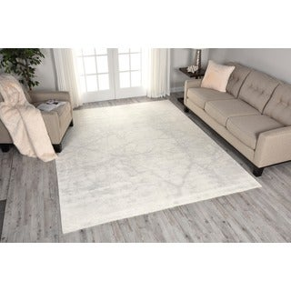 Nourison Twilight Solid Ivory Rug (5'6 x 8')