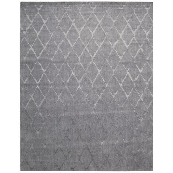 Shop Nourison Twilight Grey Trellis Rug 7 9 Quot X 9 9