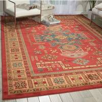 Nourison Maymana Red Rug - 5'3 x 7'4