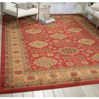 Nourison Maymana Red Rug (9'3 x 12'9)