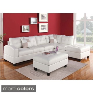 Brovary Sectional Sofa Upholstered In Bonded Leather