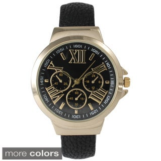 Olivia Pratt Women's Leather Cuff Watch