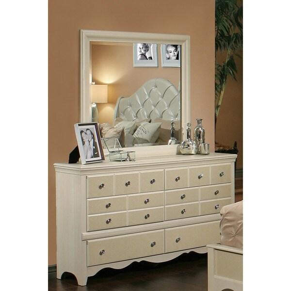 Sandberg Furniture Marilyn 6 Drawer Dresser And Mirror