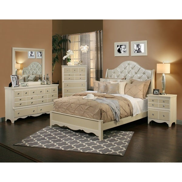 sandberg furniture marilyn 4 piece bedroom set - Shipping Bedroom Furniture