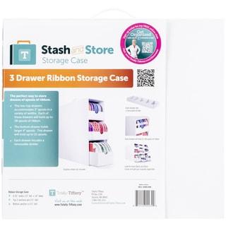 Totally Tiffany Stash And Store 3 Drawer Ribbon Box White