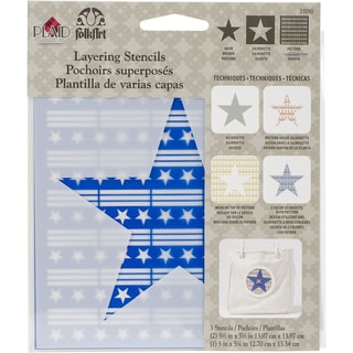 Folkart Layering Stencils 3pc Star