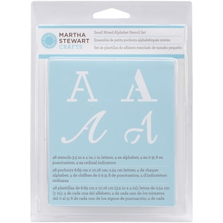Martha Stewart Small Alphabet Stencils 48/Pkg Mixed