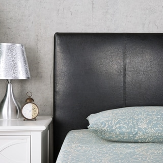 Priage Queen Faux Leather Platform Bed