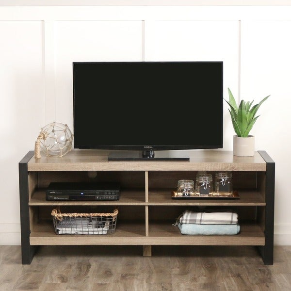 Wood Tv Stands Product ~ Shop inch urban blend wood tv stand free shipping