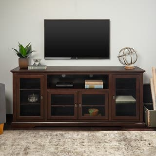70 Highboy Tv Stand Console Espresso X 16
