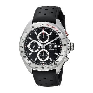Tag Heuer Men's CAZ2010.FT8024 Formula 1 Round Black Rubber Strap Watch