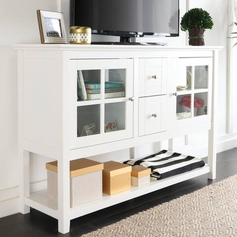 Middlebrook Designs 52-inch White Buffet Cabinet TV Console
