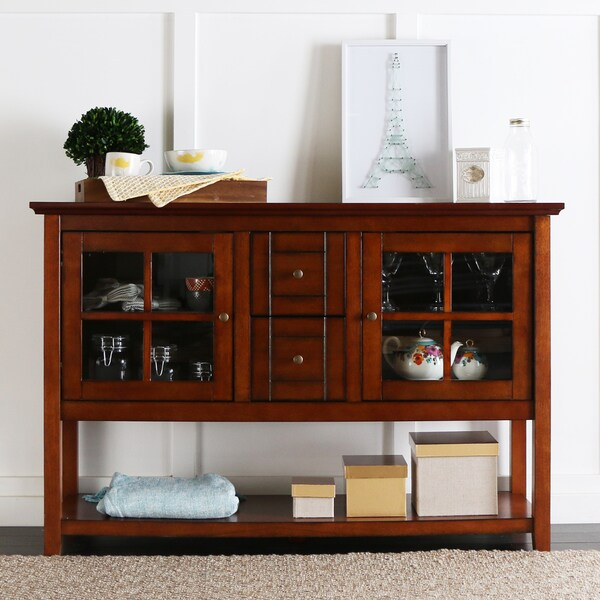 52 Inch Rustic Brown Wood Console Table/ Buffet