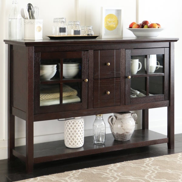 Inch espresso wood console table buffet free