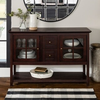 Espresso Wood 52-inch Console Table/Buffet