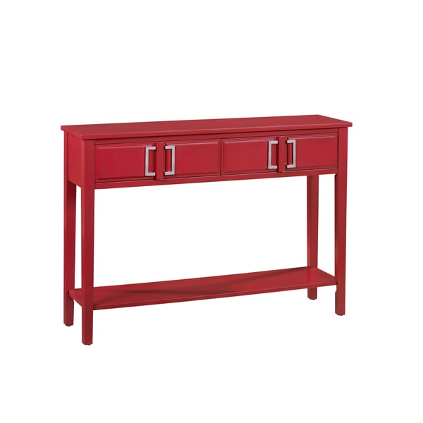 Prime Hand Painted Red Finish Console Table Home Interior And Landscaping Dextoversignezvosmurscom