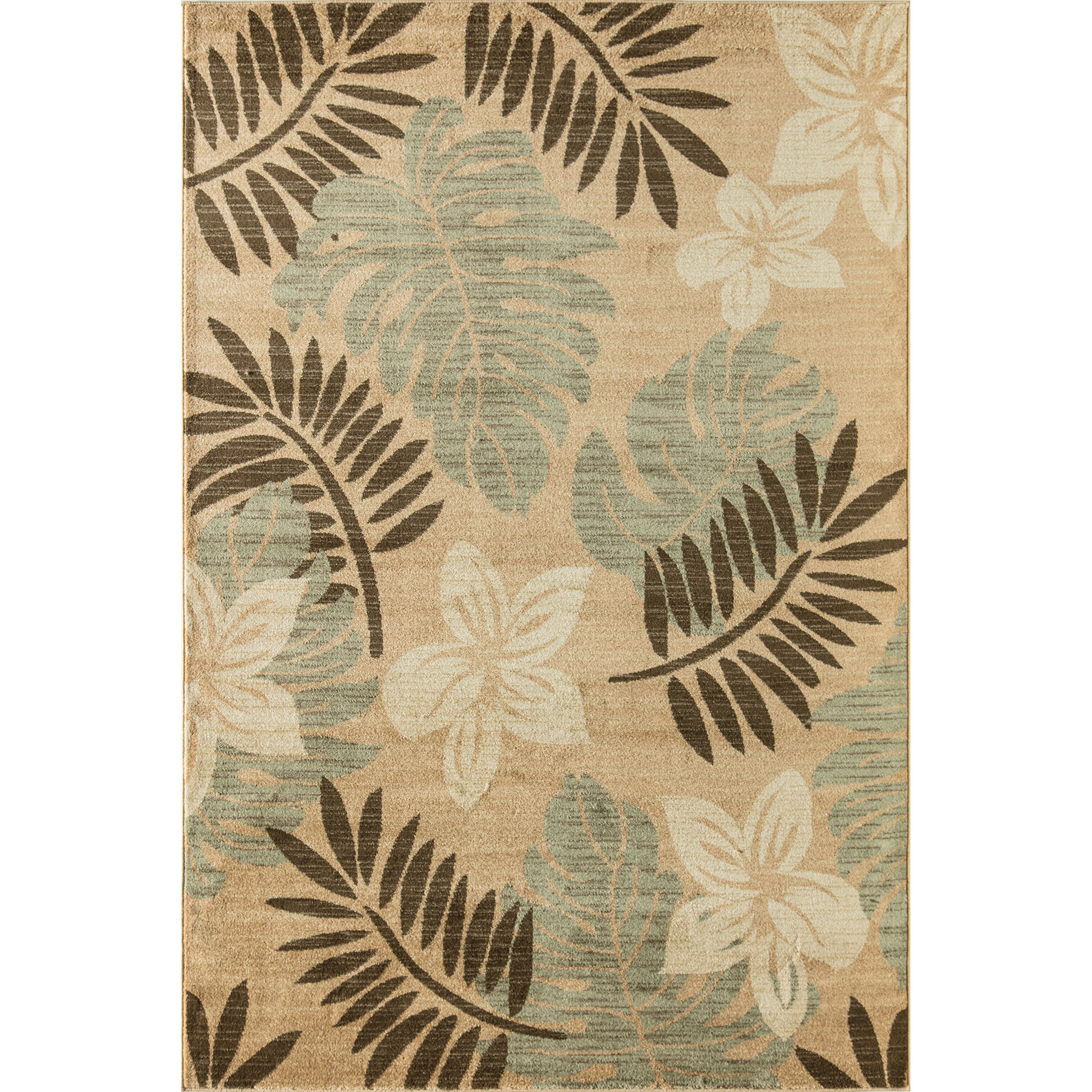 Woven Accents Flourishing Flowers Floral Area Rug (63 x 9...